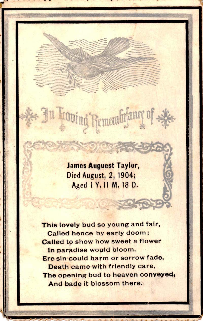 memory card for James A. Taylor